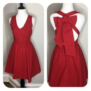 NWT -Lauren James Augusta crimson dress - Size XS